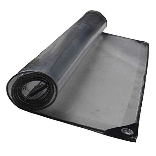 Gcxzb Lona Pesada Placa Transparente a Prueba de Agua Parasol Plegable Multiuso Lona Metal Ojal de plástico 420 g / m2, Espesor: 0,5 mm (Tamaño: 3x5m) (Size : 3x3m)