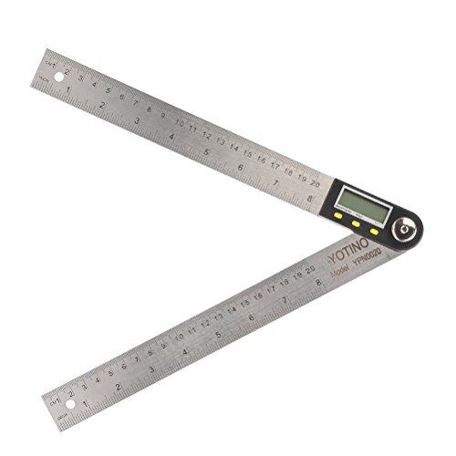 YOTINO Digital Winkelmesser Winkel-/Längenmessung Winkellineal Lehre Lineal 360 ° Digitale Winkelsucher Meter 2 * 20 cm mit LCD-Display