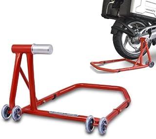 ConStands Cavalletto Alza Moto Ducati Hypermotard 1100// Evo 07-12 rosso Single posteriore per Monobraccio adattatore incl.