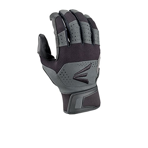 EASTON Baseball Softball Grind Batting Gloves, Pair, Adult, XX Large, Black/Grey