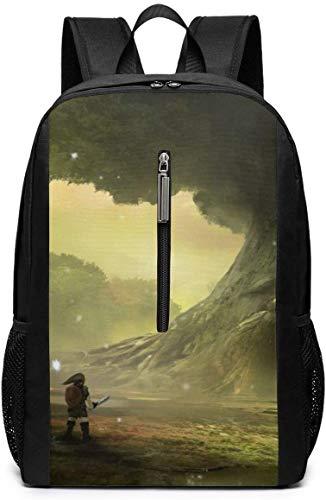 BAGGNICE Rucksäcke Daypacks Taschen, Game Theme The Legend of Zelda 17 Inch School Bag Backpack College Bag Laptop Backpack Large Capacity Backpack (Black)