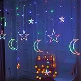 Lyperkin Luces de Navidad, Conjunto de Adornos de Decoraciones Navideñas de, Luz de Cortina de Estrella, Bombilla Led de Navidad Luz de Neón para Decoraciones de Fiestas Navideñas
