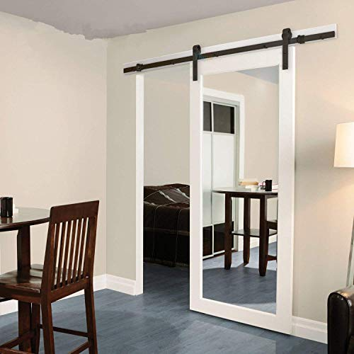 Kit telaio per porta scorrevole, stile moderno tipo armadio, per singola porta di legno
