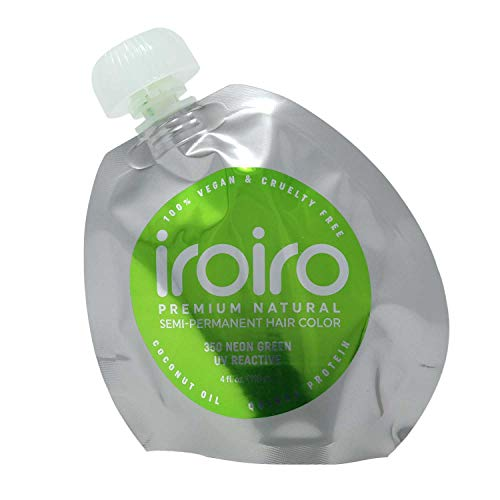 IROIRO Premium Natural Semi-Permanent Hair Color 350 Neon Green (4oz)
