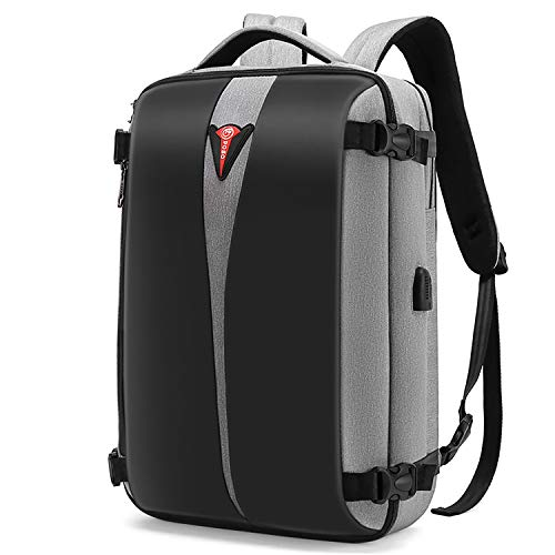CoolBELL Convertible Travel Backpack Hand Luggage Multifunctional Weekender City Anti-Theft Bag with TLS Combination Lock Waterproof Backpack 15 Inch Laptop Backpack for Men/Women (Grey)