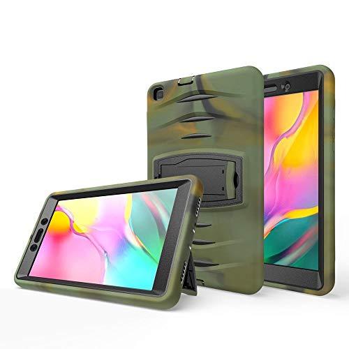 GHC Pad Fundas & Covers para Samsung Galaxy Tab A 8.0 2019 T290 T295 T290, Funda de Armadura Pesada Funda de Silicona a Prueba de Golpes para Samsung Tab A 8.0 2019 (Color : Army Green)