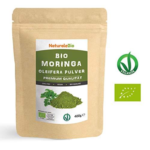 Moringa Oleifera Bio Pulver [ Premium-Qualität ] 400g | Organic Moringa Powder, Original und Rein |...