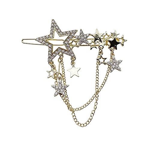 Broche De Pelo Con Estrella De Diamante