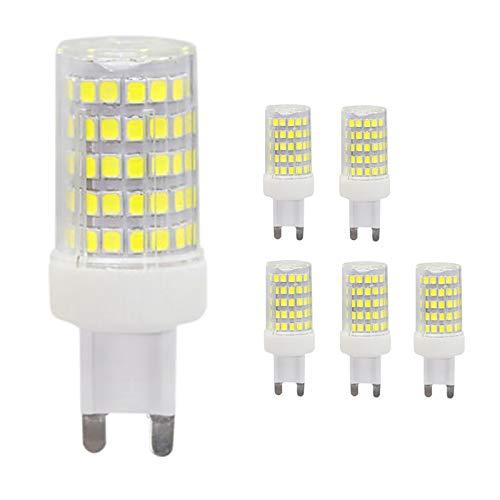 Shhyy Bombilla LED G9 10W,Reemplazo De Lámparas Halógenas De 60W 70W 80W Lámparas LED, Bombilla LED G9 1000Lm Sin Parpadeo G9 220-240V Bombilla G9 Paquete De 6,Warm White