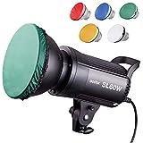 【PSEマーク&Godox正規代理】GODOX SL60W定常光ライト ファンアップグレード版 PERGEARディフューザー同梱 60W ledビデオ撮影照明 5600±300K SL60 W スタジオ撮影 ボーエンズマウント