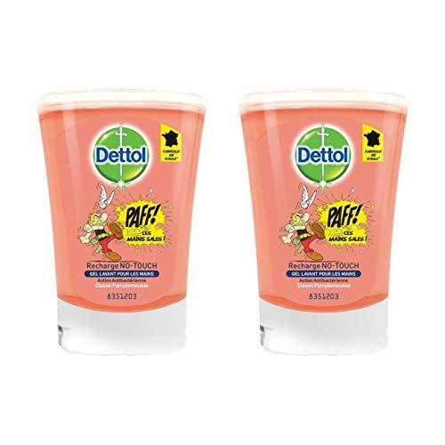Dettol–no touch recarga para dispensador de jabón automático clásico–250ml–juego de 2