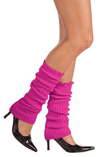 Forum Novelties Neon Leg Warmers, Pink, One Size