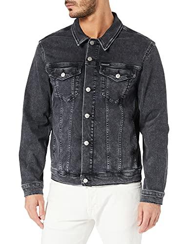 Calvin Klein Jeans Herren MODERN Essential Denim Jacket Jeansjacke, Jeansschwarz, L