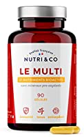 ●● 27 NUTRIMENTS DONT 5 BREVETÉS ●● Le complexe Nutri&Co contient les vitamines A, B (dont B9 et B12) , C, D3, K2, E, mais aussi du magnésium, zinc, chrome et iode ; sans compter de nombreux cofacteurs végétaux comme des caroténoïdes et bioflavonoïde...