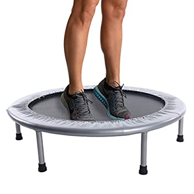FUN, STABLE JUMP: Bounce to your heart's content with the Stamina 36-Inch Folding Trampoline. 30 tension bands provide a safe, quiet, and supportive bounce. The safety pad covers the bands to keep you bouncing safely. BURN CALORIES AND TONE MUSCLE: U...