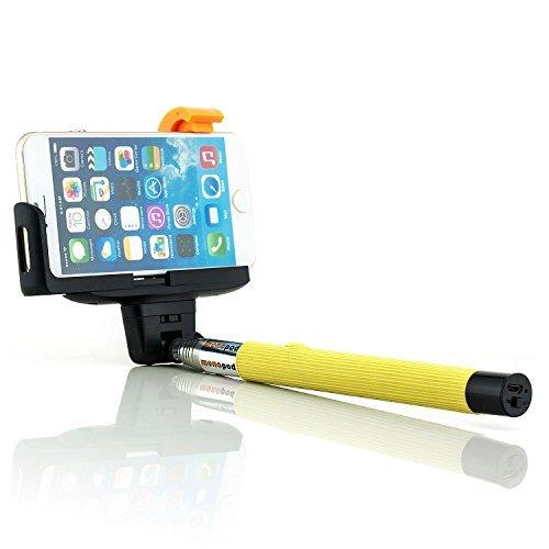 Bluetooth Selfie Stick Bastoni [Saxonia] Giallo   Universale Monopiede Smartphone Telecomando / Scatto Remoto Wireless con Asta Estendibile
