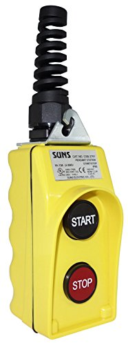 SUNS CSB-276Y-HGA UL Listed Yellow Start/Stop Pendant Station 1NO/1NC