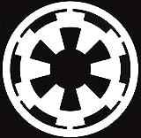 Galactic Empire Logo Star Wars Vinyl Decal Sticker |White| 4 X 4 inch SSND1082