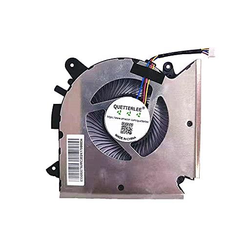 QUETTERLEE - Ventilador de refrigeración para CPU MSI GF63 Thin GF63 9RCX-818 9SC-066 8SC-030 GF65 Thin 9SD-004 9SEXR-250 9SD-252 9SEXR-249 9SD-251 9SE-013 S-16R1R1 MS-16R2 Series PABD08008SH N413 ventilador