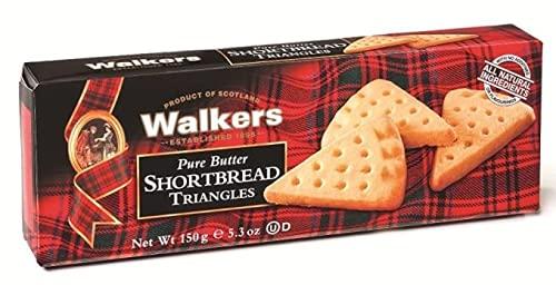 Walkers Biscotti a Forma di Triangolo Scozzesi di Pasta Frolla al Burro - 1 x 150 Grammi