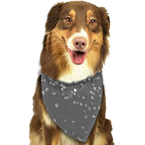 N/D Modern Grijs En Faux Zilver Glitter Confetti Aangepaste Hond Hoofddoek Heldere Gekleurde Sjaals Leuke Driehoek Bibs Accessoires Voor Huisdier Honden