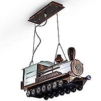 DXJ 天井スポット漫画シャンデリアペンダント照明器具天井ランプの高さ調節可能な錬鉄製ガラスランプシェードE27ランプホルダー