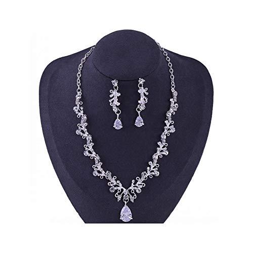 Noble Crystal Blatt Brautschmuck-Set, Strass, Krone, Tiaras, Halskette, Ohrringe, Set für Braut, afrikanische Perlen
