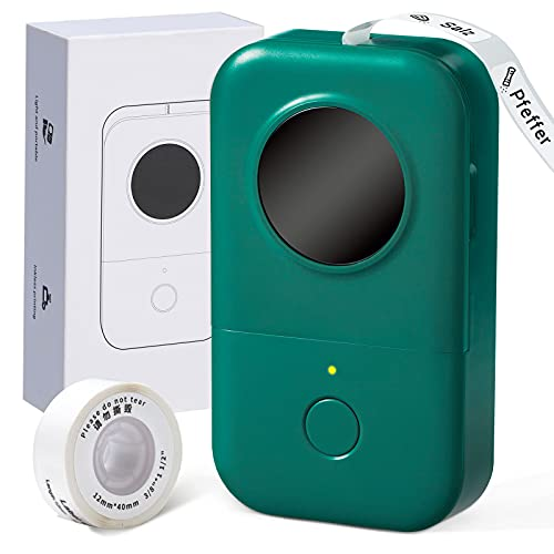 Phomemo D30 Selbstklebend Beschriftungsgerät Set, Mobiler Bluetooth Etikettiergerät Kompatibel Mit Ios Android, Tragbarer Mini Etikettendrucker Für Zuhause Büro Schule (Dunkelgrün)