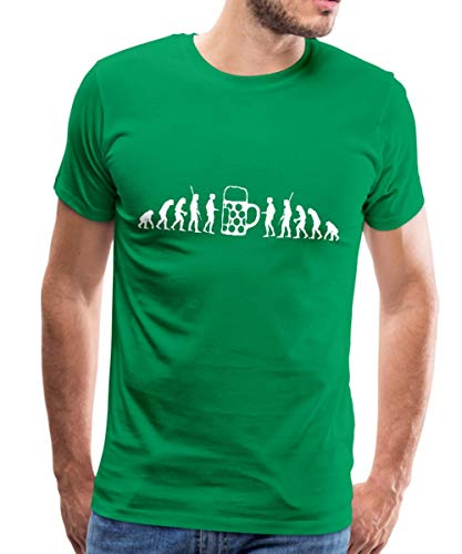 Evolution Bier Männer Premium T-Shirt, 4XL, Kelly Green