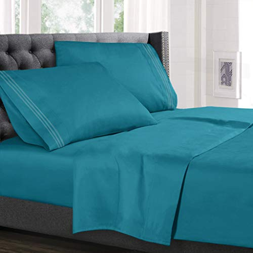 teal sheets twin - 8