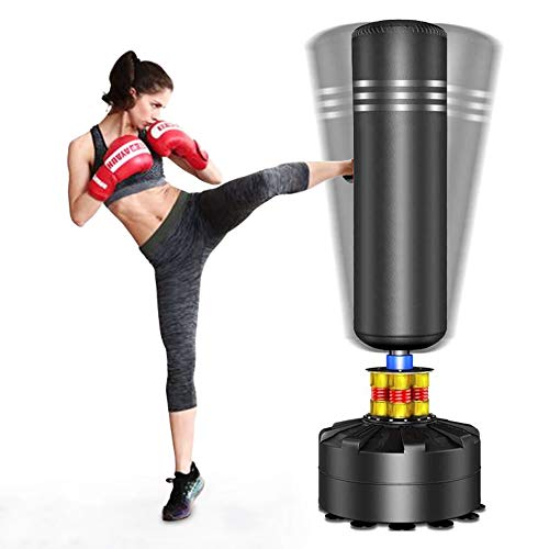 YOLEO Punching Bag Heavy Boxing Bag with Suction Cup Base - Freestanding Punching Bag for Adults Kickboxing Bags Kick Punch Bag