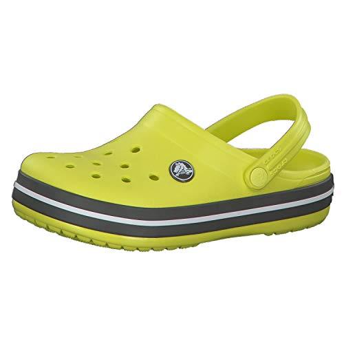 Crocs Crocband Clog Kids, Zuecos Unisex niños, Verde (Citrus/Slate Grey 7h1), 19/20 EU