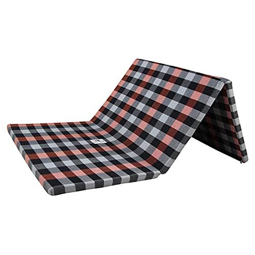 winifred 2 Inch Dual Comfort Reversible Foldable EPE Foam Single 3 Fold Bed Mattress (Medium, 72 x 47 x 2 Inch)