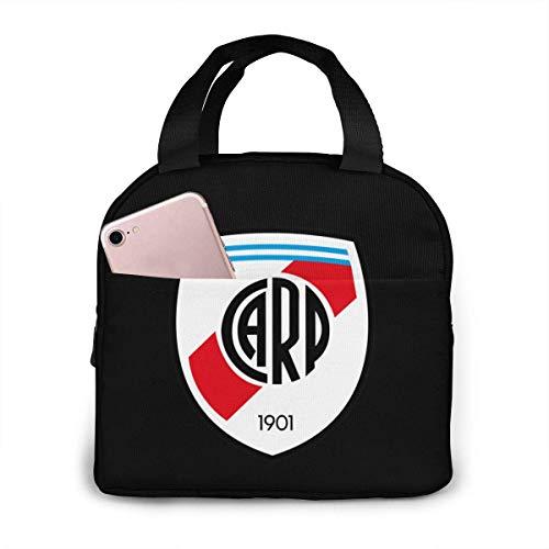 ZYWL Bolsa de almacenamiento de picnic, bolso gourmet para hombres, mujeres, River Plate Fc, fiambrera Bento reutilizable con cremallera, bolsa de comida