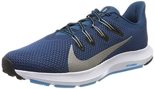 Nike Quest 2, Zapatillas de Running para Hombre, Azul (Blue Force/Mtlc Pewter/Lt Current Blue/Black/White 401), 44 EU
