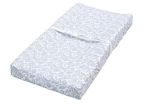 Jomolly Leakproof Changing Pad Cover, 2 Pack Pink Quatrefoil & Floral Fitted Table Sheet