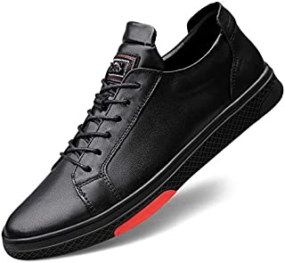 FYXKHj Men's Sports and Leisure Shoes Leather lace-up Sneakers