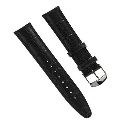 Festina Herren Uhrenarmband 21mm Leder-Armband schwarz für Festina F16872 F16871 Uhren