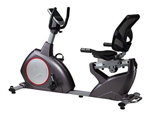 Sitz-Liege-Ergometer Heimtrainer magnetischer Widerstand ca. 15 kg Schwungmasse 24 Programme Bluetooth bis 150 kg belastbar