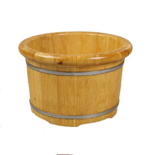 New NJYT Foot Massager Foot Bath Barrel Pedicure Basin Wood Foot Washing Foot Care Pedicure Bucket Household Natural Solid Fumigation Barrel (Size : B 40x25cm(15.7×9.8inch))