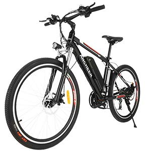 ANCHEER 500W/250W Electric Bike Electric Mountain Bike for Adult, 26' Electric Commuter Bicycle 20Mph with Removable 12.5Ah/8AH Battery, Professional 21 Speed Gears