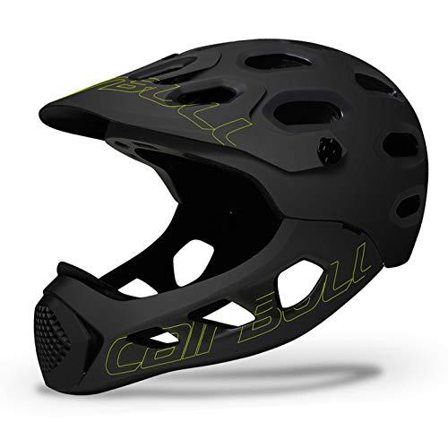 QKFON Fahrradhelm mit abnehmbarem Kinnschutz Mountainbike Langlauf Fahrrad Integralhelm Extrem Sport Sicherheit Helm für Mountainbike Rennrad 56-62cm