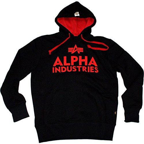 Alpha Industries - Foam Print Hoodie black / Größe: L