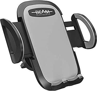 Beam Electronics Car Phone Mount Holder Universal Phone Car Air Vent Mount Holder Cradle Compatible for iPhone 12 11 Pro Max XS XS XR X 8+ 7+ SE 6s 6+ 5s 4 Samsung Galaxy S4-S10 LG Nexus Nokia