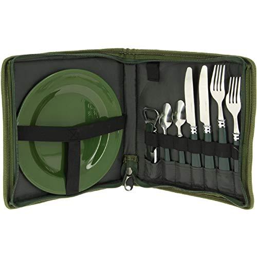 G8DS 10-teiliges komplettes Campinggeschirr und Besteck für 2 Personen Kochgeschirr Camping-Besteck-Geschirr-Set Survival Outdoor