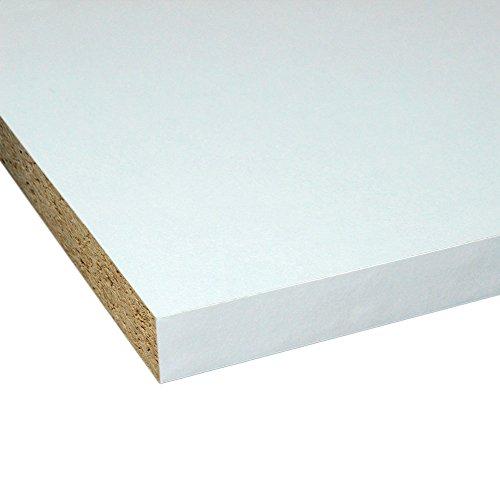 Möbelbauplatte Regalbrett Weiß 2600 x 600 x 19 mm, 2 Seiten umleimt