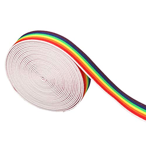 Supers 1-inch Elastic Band Rainbow Pattern Waistband (1-inch by 5 Yards)