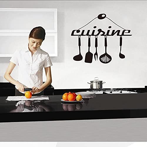 Adesivo Strumenti di cottura Vinile Carving Wall Sticker Art Mural Kitchen Poster Fashion Home Decor Background Sticker Altro colore 30x31cm