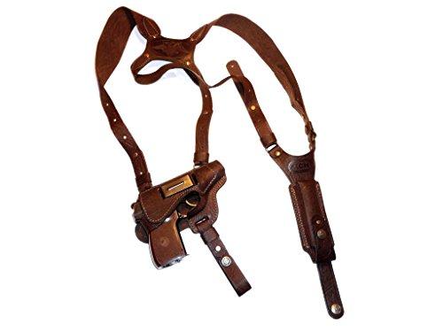 100% Leather Shoulder Gun Holster Ruger lc9, Makarov, Bersa Thunder, Walther PPK PPK/s #127