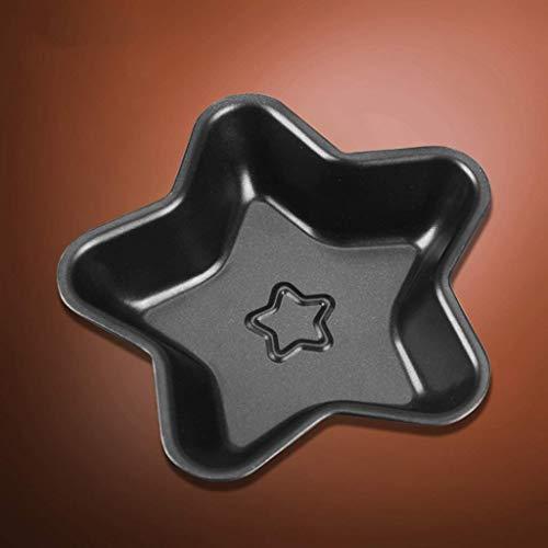 GJJSZ Molde de Pastel Molde de Estrella de Cinco Puntas,Horno doméstico Aparato West Point Personalidad Antiadherente Molde de Pastel de Personalidad Creativa